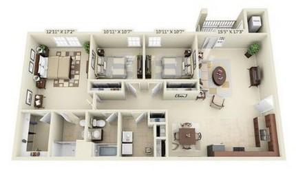 Three Bedroom Phase 2 & 3
