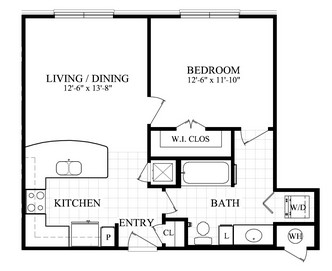 North Post Oak Lofts One Bedroom Plans Central Houston Tx
