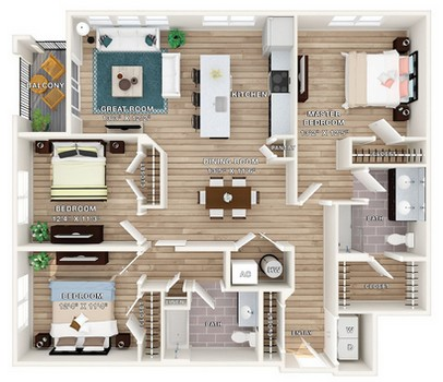 Layout of Cottage