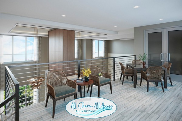 Interior image of resident upper room lounge