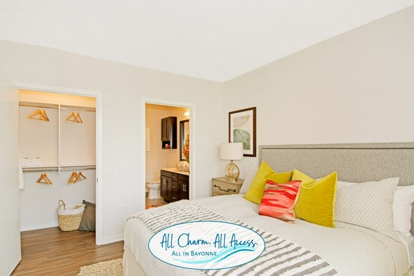 Interior image of apartment bedroom with furniture