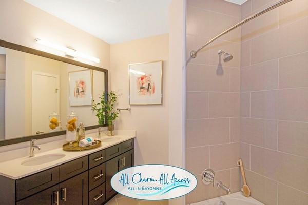 Interior image of apartment bathroom