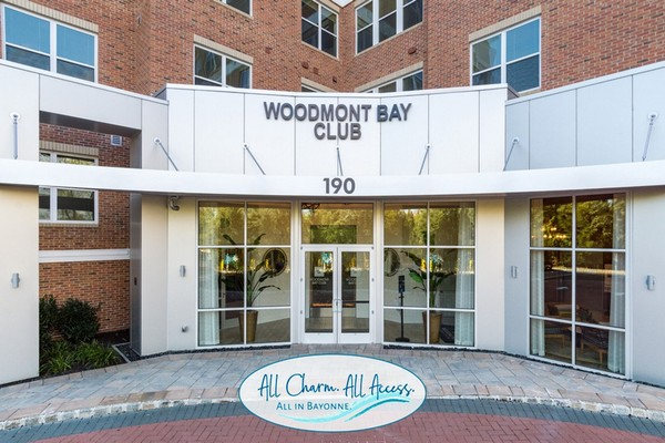 Exterior image of apartment building entrance