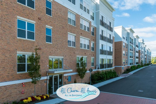 Exterior image of apartment entrance