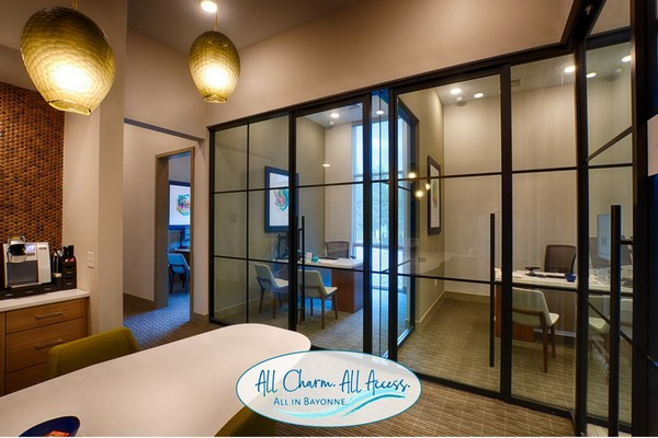 Interior image of apartment leasing office