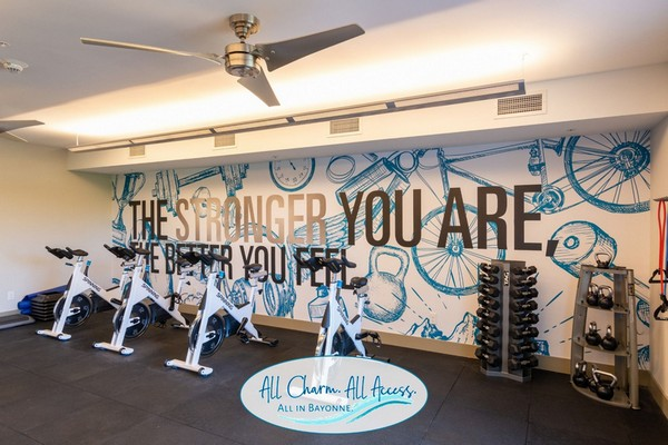 Interior image of fitness equipment and free weights