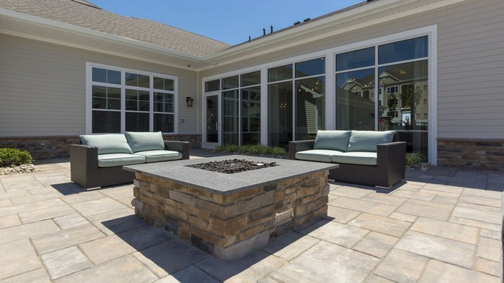 Outdoor image of fire pit with patio furniture