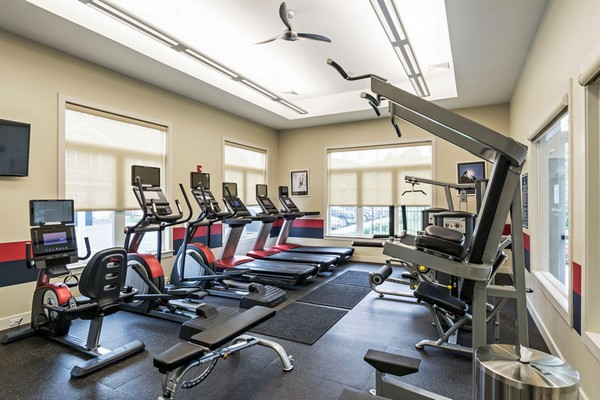 Interior image of fitness room with equipment