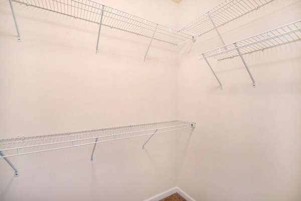 Interior image of walk in closet