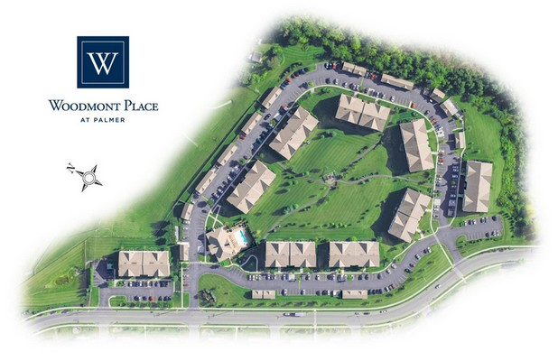 Image of an aerial view of apartment complex