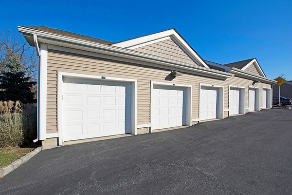 Exterior image of apartment garage units