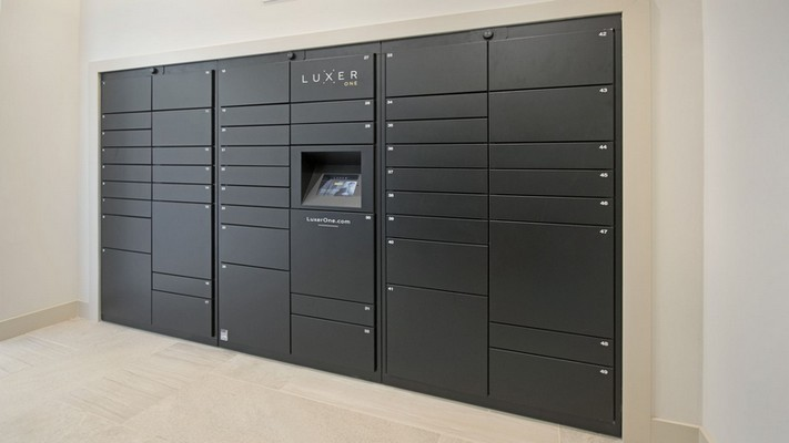Image of electric mail boxes