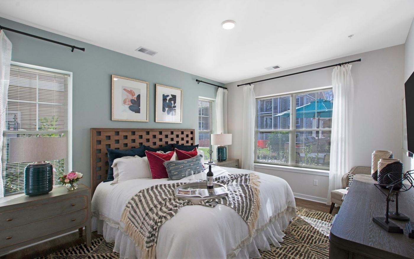 Interior image of bedroom with bedroom floor plans