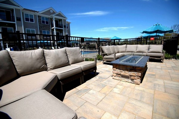 Outdoor image of firepit and patio chairs