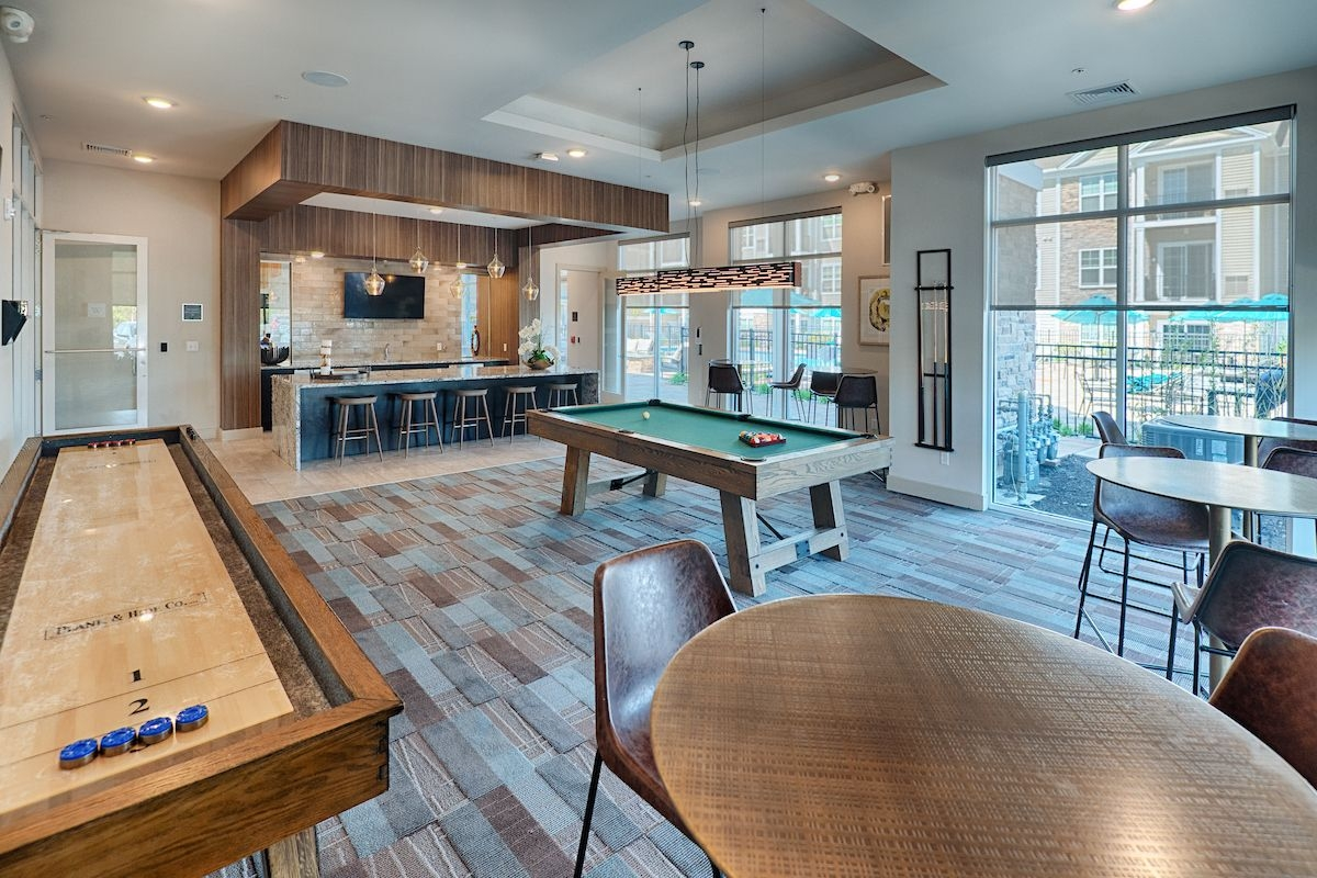 Game room Billiards and Shuffle board