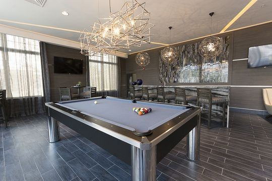 Resident lounge with billiards table