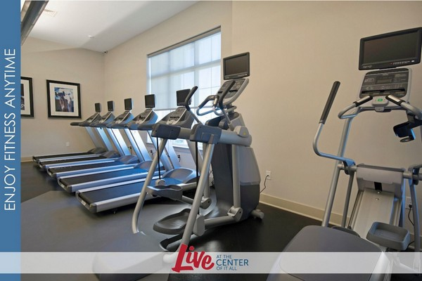 Interior image of athletic room with cardio exercise equipment