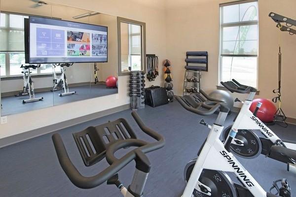 Fitness center cardio room