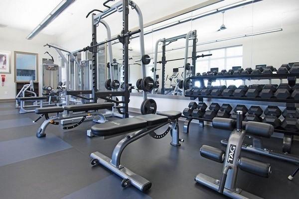 Strength training room