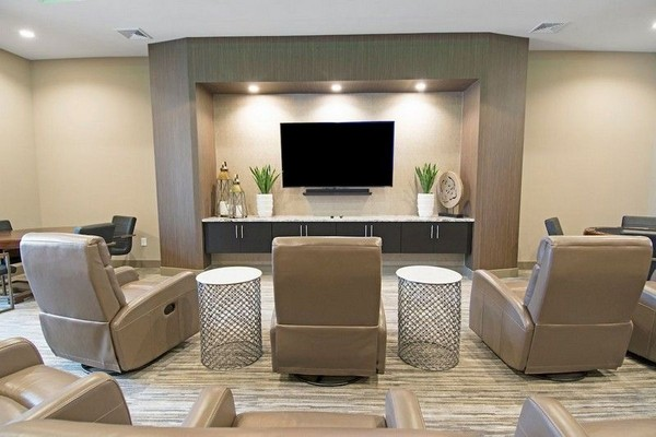 Clubhouse theater and media room
