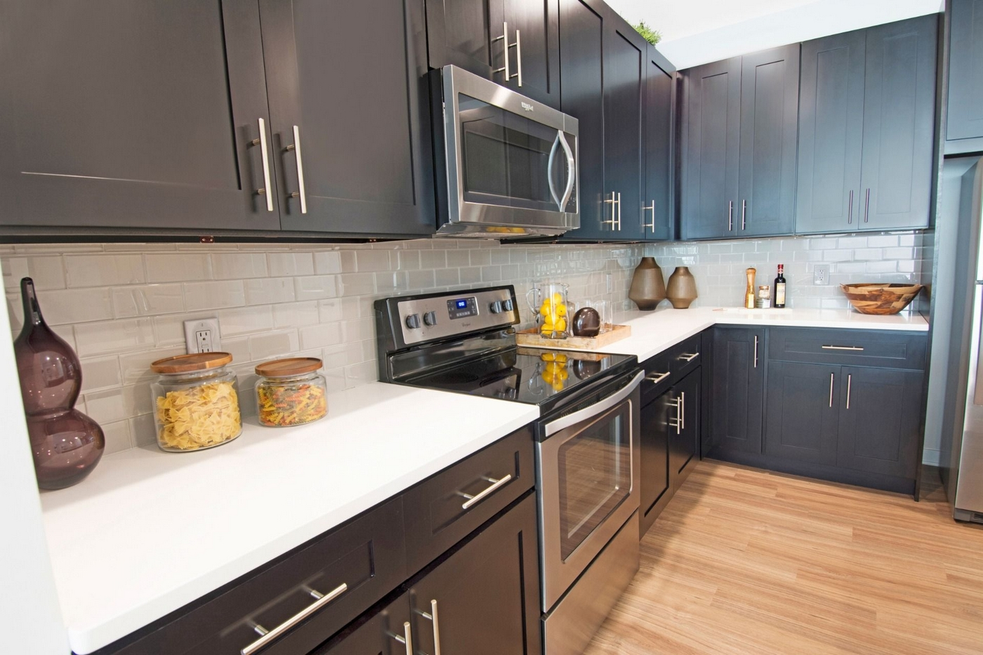 Large, open kitchen with lots of counter space