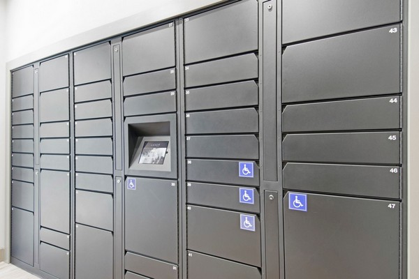Secure mail room and package lockers