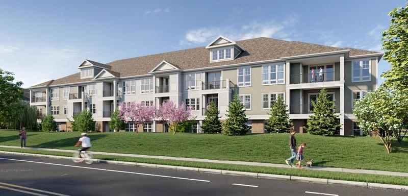 Rendering of apartment building