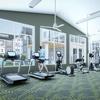 Man on treadmill in fitness center
