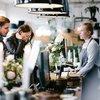 Couple at cashier counter of garden store