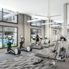 Fitness center with cardio and weight training equipment